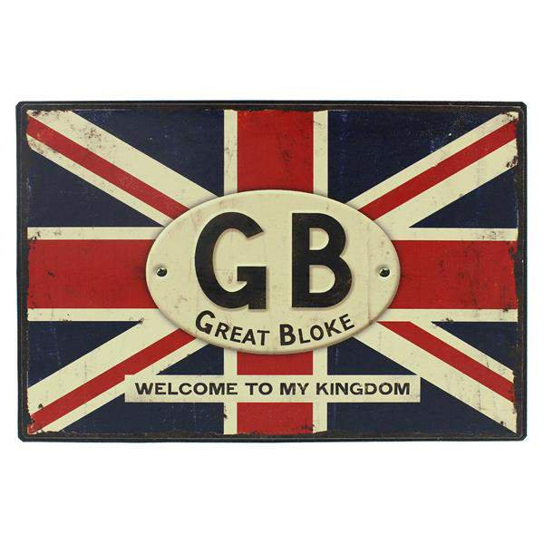 Union jack great bloke wall plaque connollys homestyle york